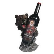 Подставка под бутылку Медведь цвет: акрил L14W18H26 см
