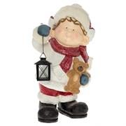 Фигура декоративная Мальчик с фонарем L30W22H51см