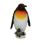 Фигура декоративная садовая Пингвин с пингвиненком L29 W27 H45 см