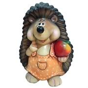 Фигура декоративная Ежиха с яблоком H38 см.
