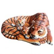 Камень декоративный Тигрица с тигрятами (блок 2шт.) L109W83H41 см.