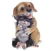 Фигура декоративная Собачка с кошкой L20W18H27 см.