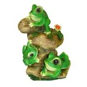 Фигура садовая Лягушата на камнях L26W19H36 см.