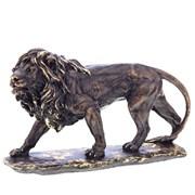 Фигура декоративная Лев большой №2 сусальное золото L39W16H24 см.