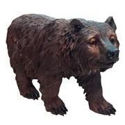 Фигура садовая Медведь бурый на ногах L60W22H36 см.