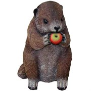 Фигура садовая Бобер с яблоками L17W22H28 см.