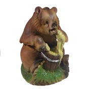 Фигурка декоративная Мишка с медом L17.5W18 Н22 см.