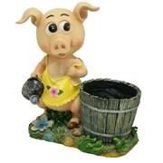 Кашпо декоративное Свинка-хозяюшка L33W17H36 см.