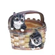 Кашпо декоративное Котята в корзине H20D16 см.