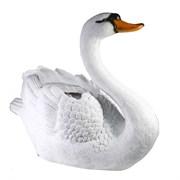 Кашпо декоративное Лебедь большой L55W26H45.5 см.