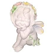 Фигура декоративная Ангелочек мечтатель H29 см.