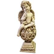 Фигура декоративная Ангелочек на шаре Н34 см.