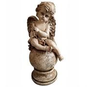 Фигура декоративная Ангел на шаре антик Н43 см.