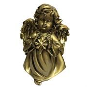 Фигура декоративная Ангелочек со звездочкой сусальное золото L11W8H15 cм.