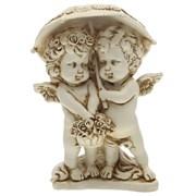 Фигура декоративная Ангелочки под зонтом антик L11.5W9.5H15.5 cм.