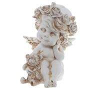 Фигура декоративная Ангелочек с медведем антик L9.5W9.5H13 cм.