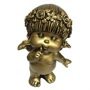 Фигура декоративная Ангел сусальное золото L10W8.5H14.5 cм.