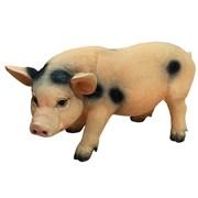 Фигура декоративная Свинья с пятнами L47 W14 H24 см.
