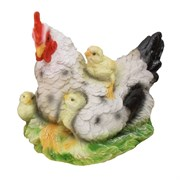 Фигура садовая Курица-наседка L30W20H23 см.