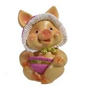Фигура декоративная Свинка Няша II L6.5W5H9.5см