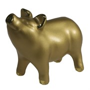 Фигура декоративная Поросенок Лексус  цвет: золото L10W5H7.5см