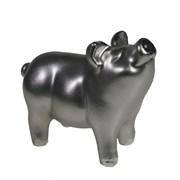 Фигура декоративная Поросенок Лексус цвет: серебро L10W5H7.5см