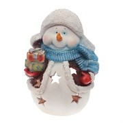 Фигура садовая Снеговик с подарками L31W21H41 см.