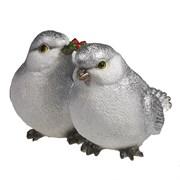 Фигура декоративная Птички цвет: серебро L20W19.5H16.5см