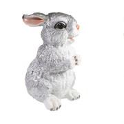 Фигура декоративная Заяц цвет: серебро L13W16.5H27см