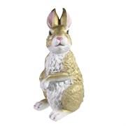 Фигура декоративная Заяц цвет: золото L13.5W17H33.5см