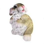 Фигура декоративная Заяц цвет: золото L20.5W21H29см