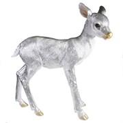 Фигура декоративная Олененок цвет: серебро l45.5W12.5H49см
