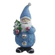 Фигура декоративная Дед Мороз с елочкой цвет: голубой L7W6H16.5см