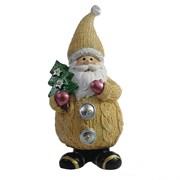 Фигура декоративная Дед Мороз с елочкой цвет: бежевый L7W6H16.5см