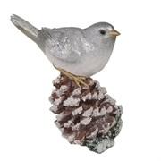 Фигура декоративная Птичка на шишке L6W11H13см