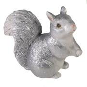 Фигура декоративная Белочка цвет: серебро L6W13H11см