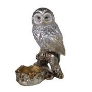 Фигура декоративная подсвечник Сова цвет: серебро L8W10H15см