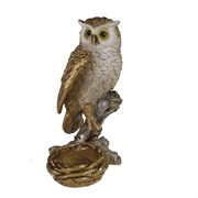 Фигура декоративная подсвечник Сова цвет: золото L9W9H15см