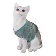 Фигура декоративная Кот в свитере цвет: голубой L9W12H19см