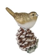 Фигура декоративная Снегирь на шишке L6W11H13см