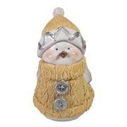 Фигура декоративная Снегирь-мальчик цвет: бежевый L8W10H15см