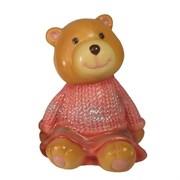 Фигура декоративная Мишка бежевый в красном свитере L10W11H14см