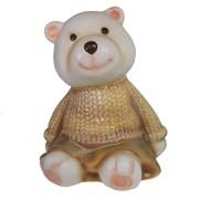 Фигура декоративная Медвежонок в золотом свитере L10W11H14см