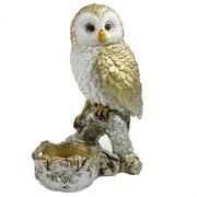 Фигура декоративная подсвечник Сова цвет: золото-серебро L8W10H15см