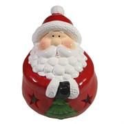 Фигурка декоративная Дед Мороз с елкой со светодиодной подсветкой L15W14H15.5см
