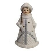 Фигура декоративная Снегурочка в белой шубке L7W6H11.5см