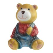 Фигура декоративная Медвежонок в красном свитере L10W11H14см