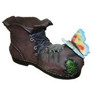 Кашпо декоративное Ботинок великана с бабочкой L43W26H25см