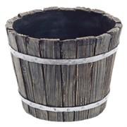 Кашпо декоративное Кадушка круглая L12.5W12.5H10см