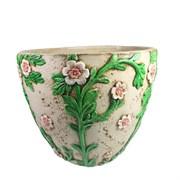 Кашпо декоративное Горшок украшенный цветами D36H26см